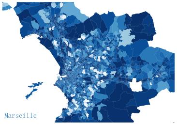 Marseille en bleue et blanche