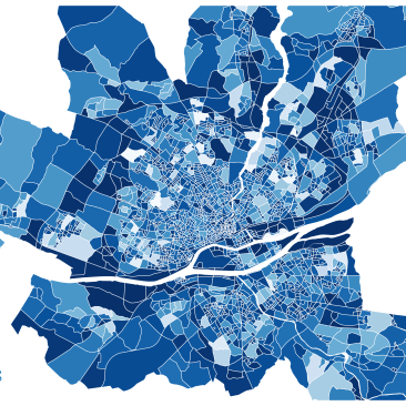 Nantes en bleue et blanche