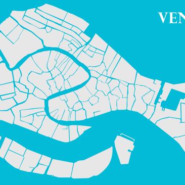 Venise en bleue et blanche