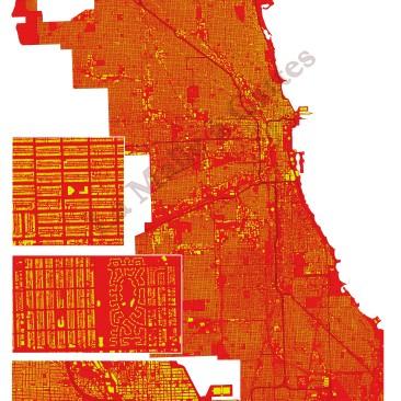 Chicago en jaune et rouge, avec 3 zooms