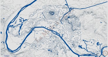 "Carte de relief de Paris en effet ""carte marine"""